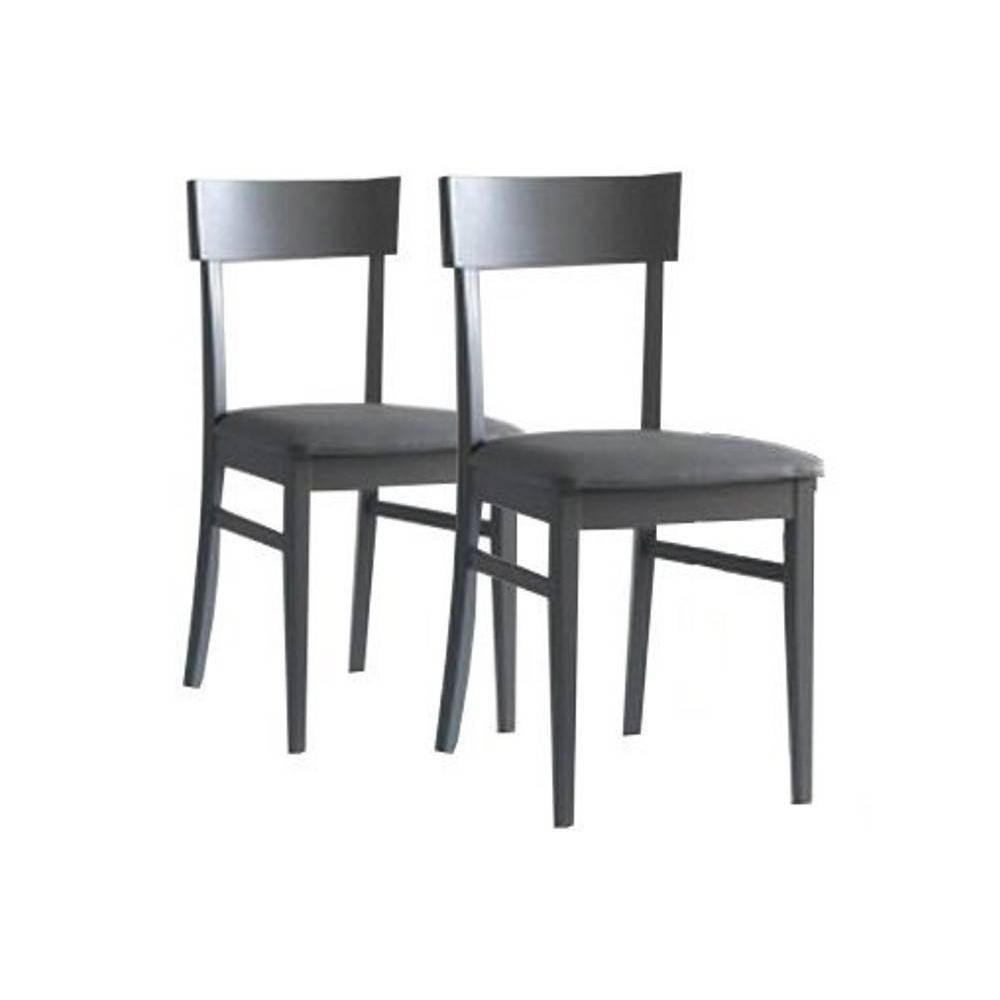 Chaises tables et chaises lot de 2 chaises new age - Chaises design grises ...