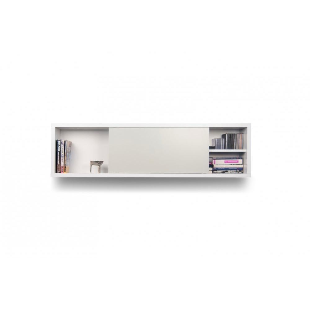 étagère horizontale murale avec une porte coulissante  Inside75