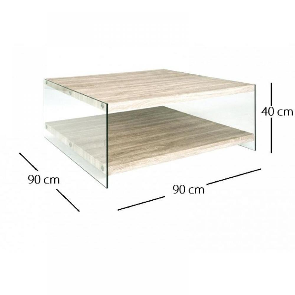 Tables basses tables et chaises table basse nina en - Table basse en chene clair ...