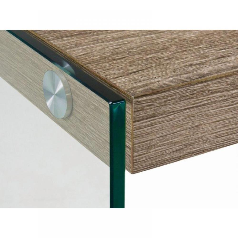 Tables basses tables et chaises table basse nina en verre et ch ne gris i - Table basse chene verre ...