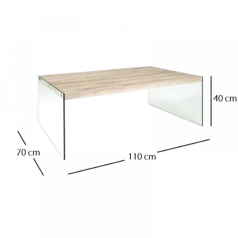 Tables basses tables et chaises table basse nina 110 x for Table basse chene et verre