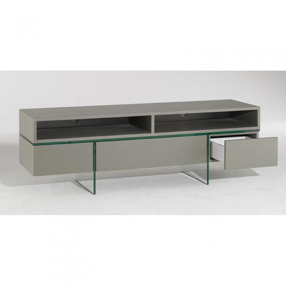 Table tv verre design for Meuble tele en verre design