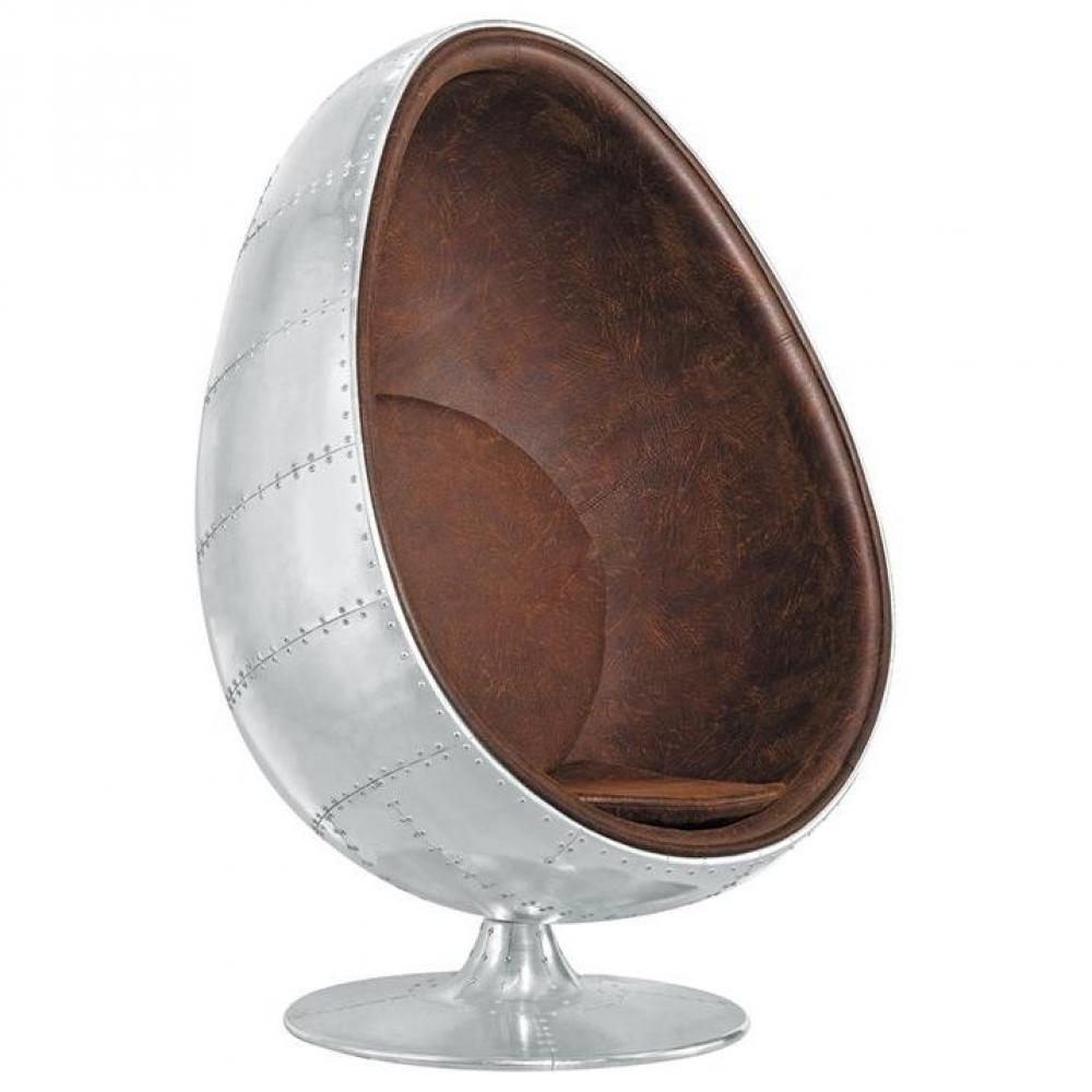 fauteuils oeuf meubles et rangements fauteuil pivotant oeuf egg chair aviateur aluminium. Black Bedroom Furniture Sets. Home Design Ideas