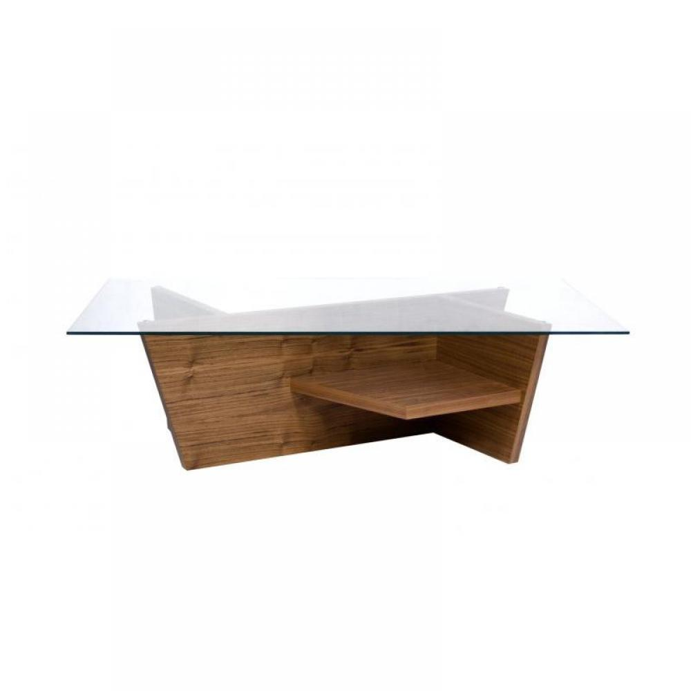 TemaHome OLIVA coffee table basse design bois plateau verre  Inside75 ~ Table Basse Bois Design
