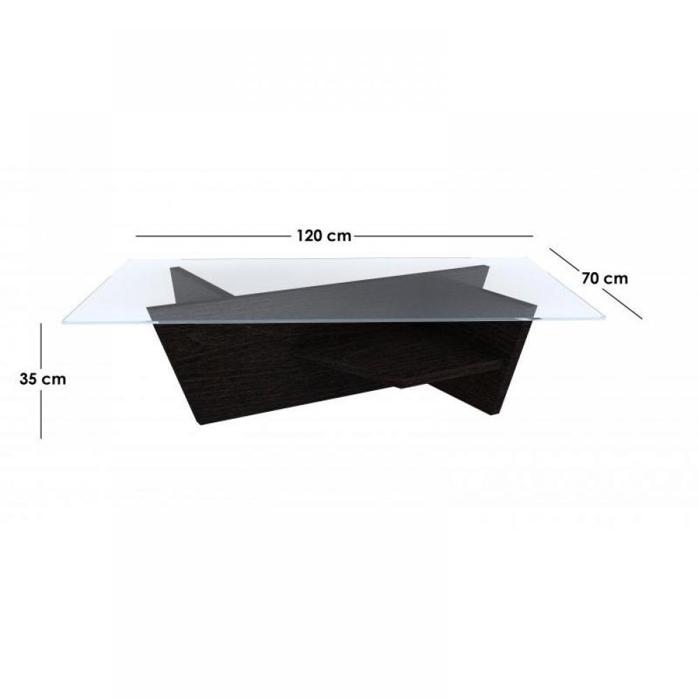 Table basse plateau verre design - Table basse wenge et verre ...