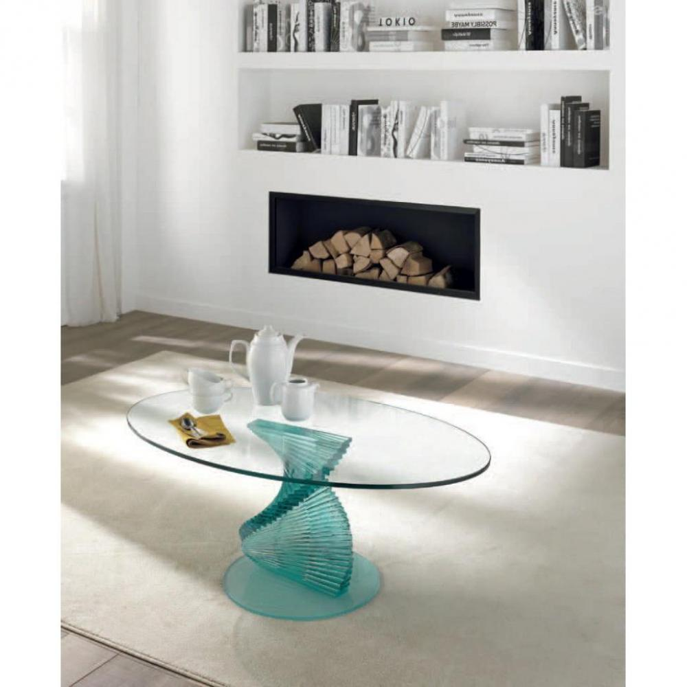 Tables basses tables et chaises opale table basse design en verre plateau - Table basse verre design ...