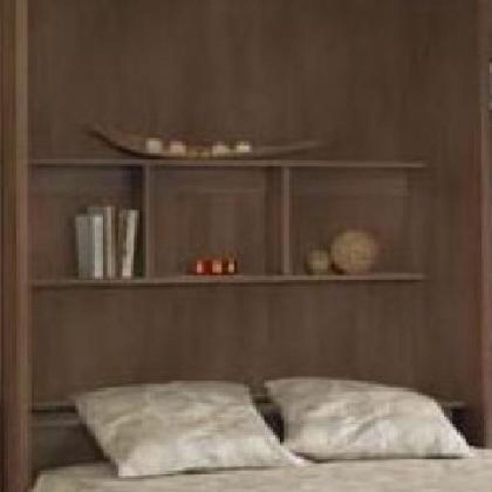 armoires lits escamotables profondeur 59cm avec tag res d co en t te de lit. Black Bedroom Furniture Sets. Home Design Ideas