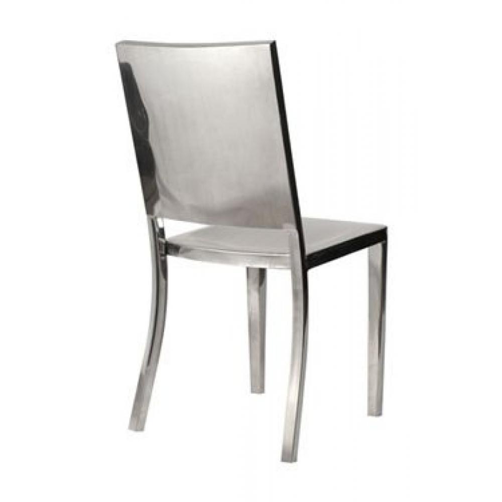 chaises meubles et rangements chaise orion inox acier poli design loft industriel inside75. Black Bedroom Furniture Sets. Home Design Ideas