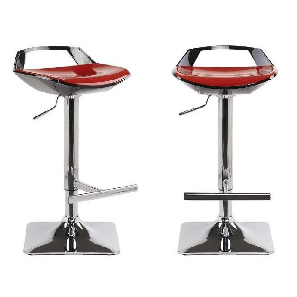 Tabourets de bar meubles et rangements lot de 2 tabourets chaises de bar r glables ovni noir for Chaise de bar rouge