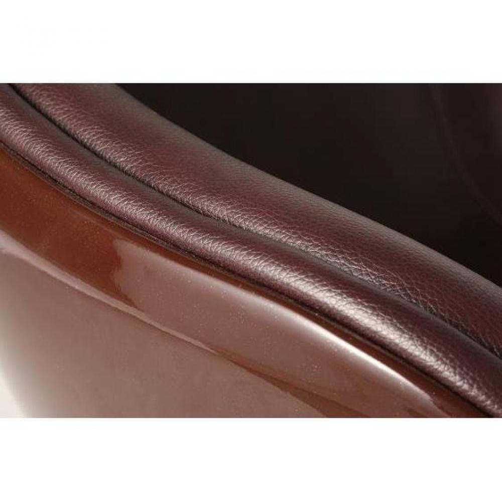 Ventes flash oxygen fauteuil simili cuir et fibre de - Fauteuil simili cuir marron ...