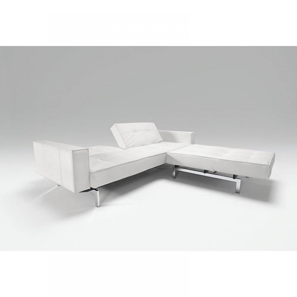 Canape design blanc for Canape cuir blanc design