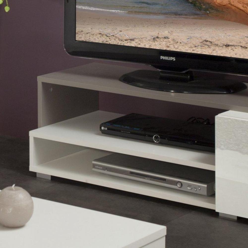 Meuble tv laque blanc brillant - Meuble tv couleur taupe ...
