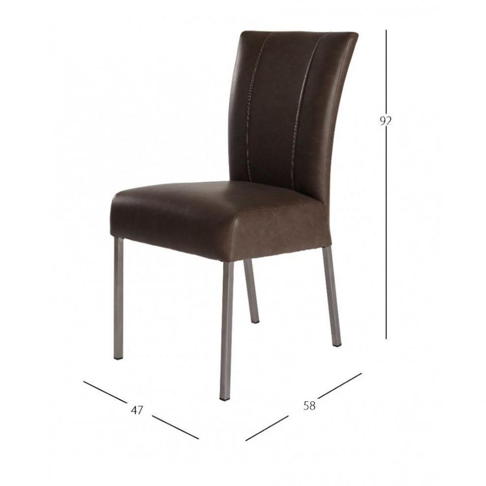 Chaises tables et chaises chaise design pan similicuir - Table et chaises design ...