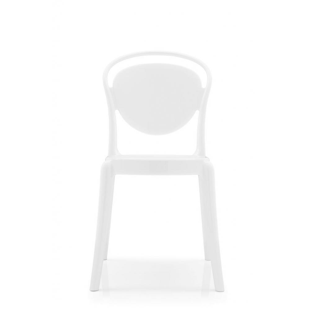 Chaises meubles et rangements chaise design calligaris la parisienne polyca - Chaise polycarbonate blanche ...