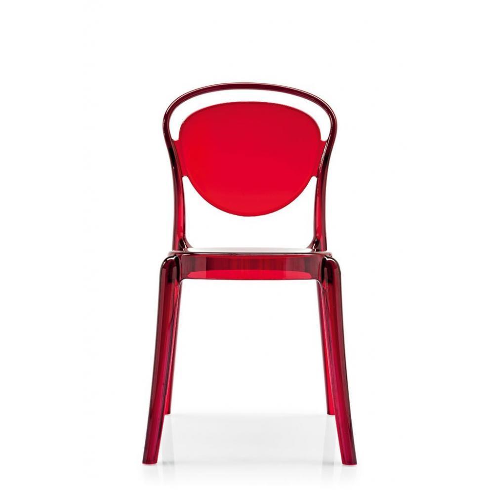 chaises meubles et rangements chaise design calligaris la parisienne polycarbonate rouge. Black Bedroom Furniture Sets. Home Design Ideas