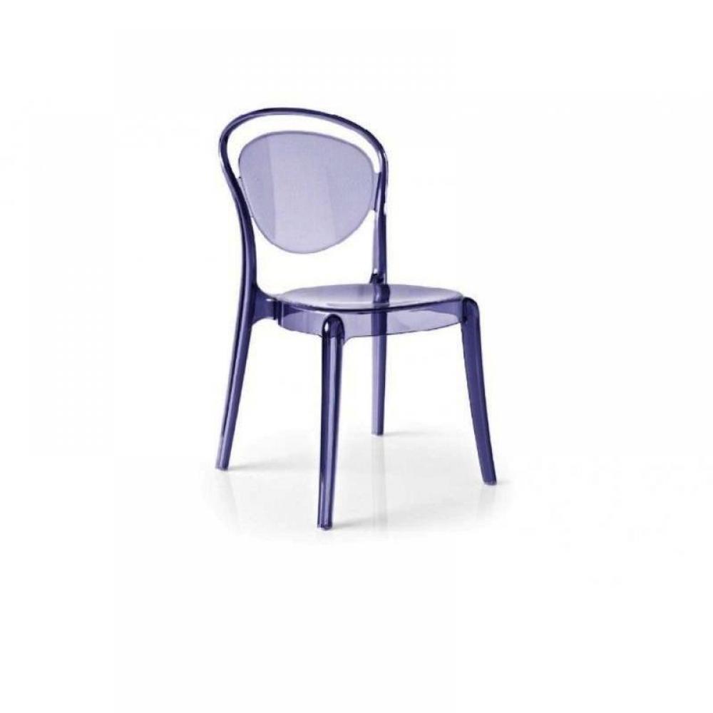 chaises meubles et rangements chaise design calligaris la parisienne polycarbonate violette. Black Bedroom Furniture Sets. Home Design Ideas
