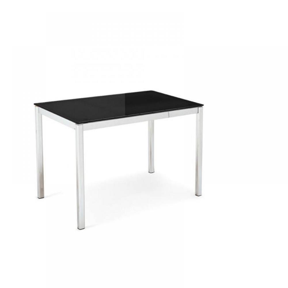Tables repas tables et chaises table calligaris for Table verre noir extensible