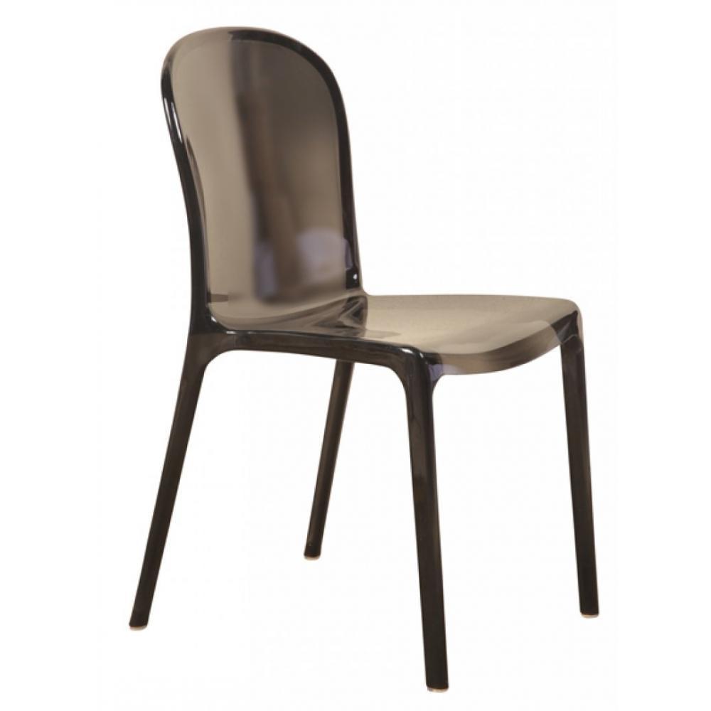 chaises meubles et rangements chaise desing phantom gris transparent. Black Bedroom Furniture Sets. Home Design Ideas