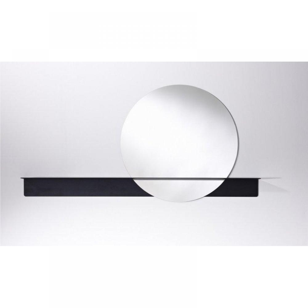 Poke miroir mural rond en verre avec pied design de for Miroir en pied mural