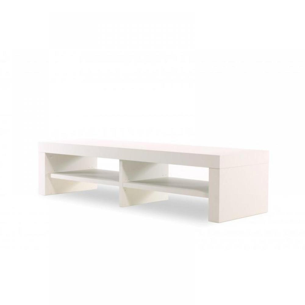 Meuble Tv Blanc Glossy : Meubles Tv, Meubles Et Rangements, Temahome Fusion Meuble Tv Blanc Mat