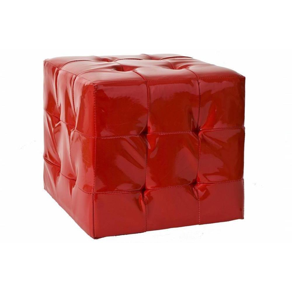 Poufs et reposes pieds canap s et convertibles pouf for Pouf carre rouge