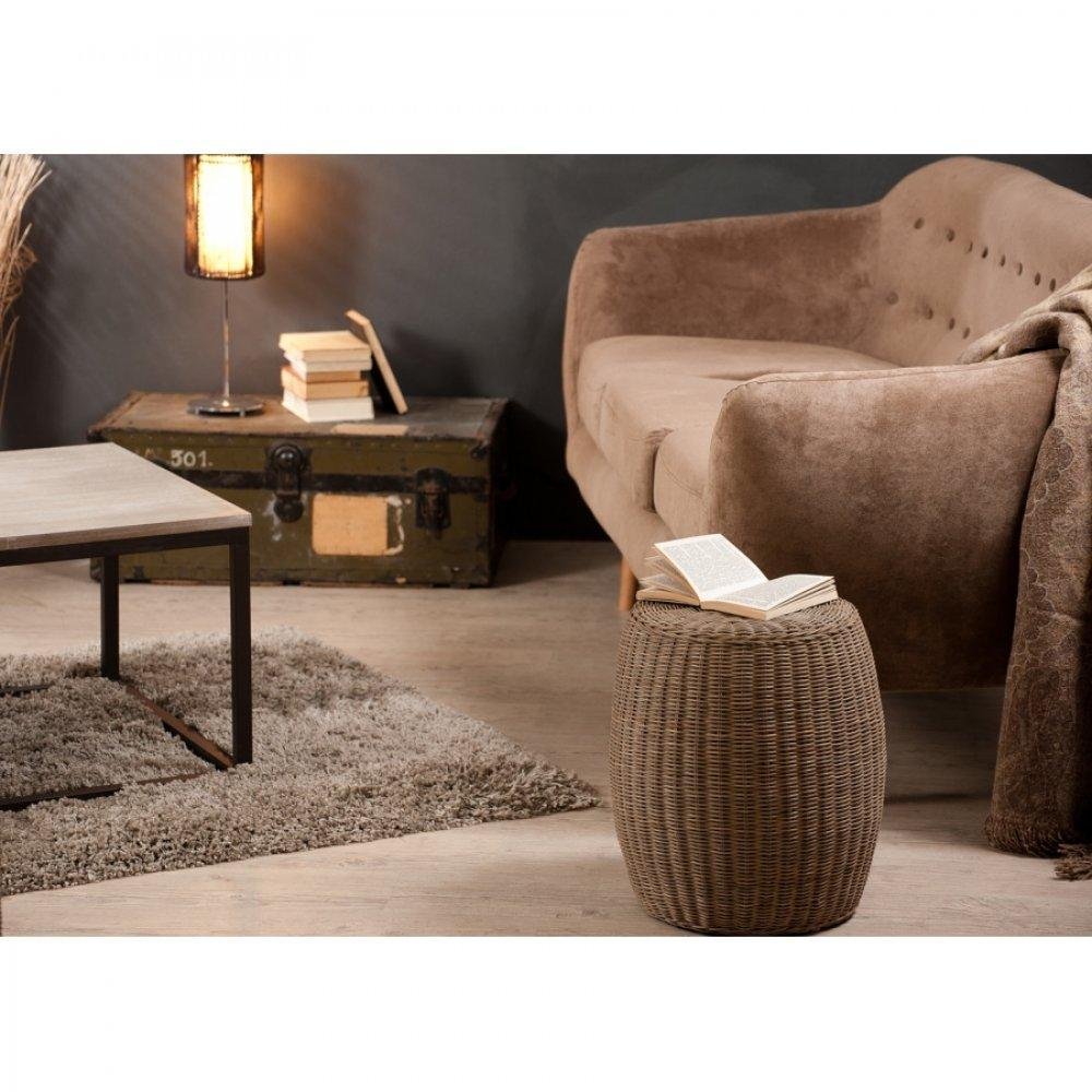 fauteuils et poufs fauteuils et poufs pouf rond lorine en rotin style colonial inside75. Black Bedroom Furniture Sets. Home Design Ideas