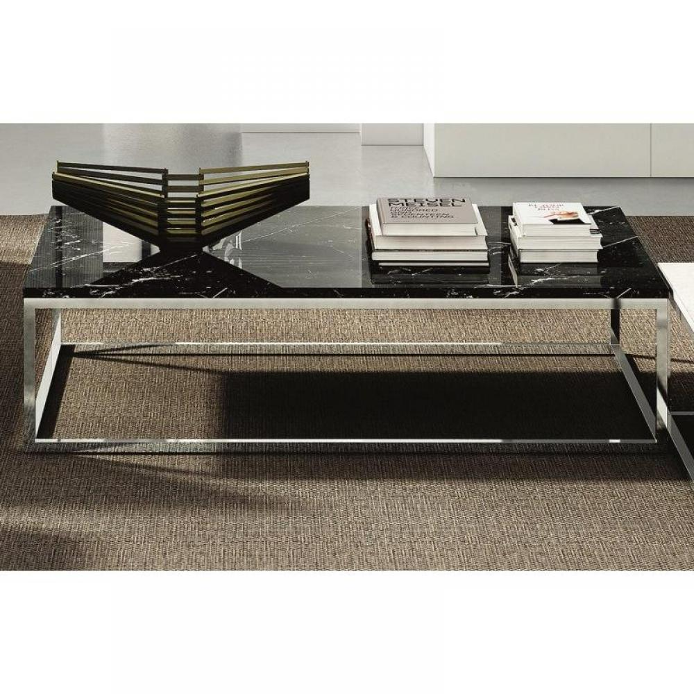 Tables basses tables et chaises temahome prairie table basse rectangulaire en marbre noir - Table marbre rectangulaire ...