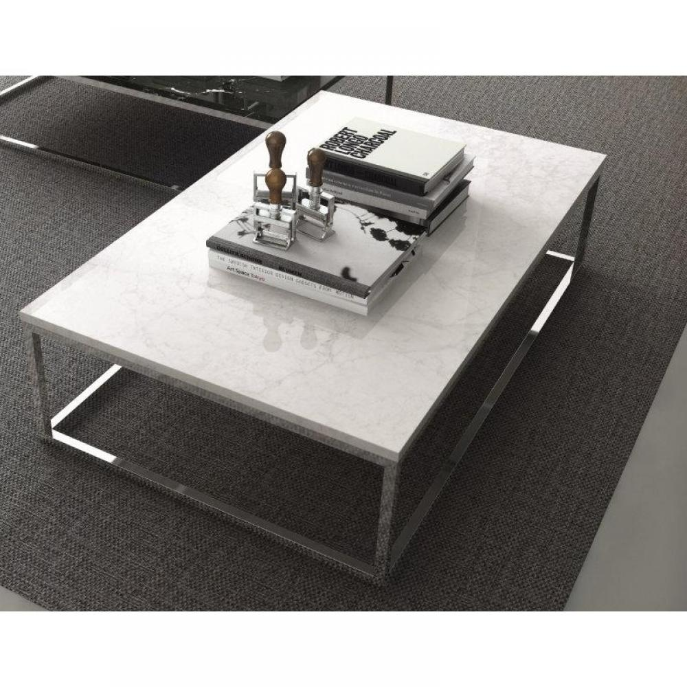 Tables basses tables et chaises temahome prairie table basse rectangulaire en marbre blanc - Table marbre rectangulaire ...