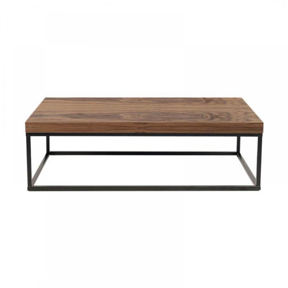 tables basses tables et chaises temahome prairie table basse en noyer avec pi tement acier. Black Bedroom Furniture Sets. Home Design Ideas