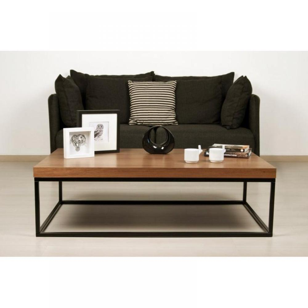 tables basses tables et chaises temahome prairie table basse rectangulaire en noyer pi tement. Black Bedroom Furniture Sets. Home Design Ideas