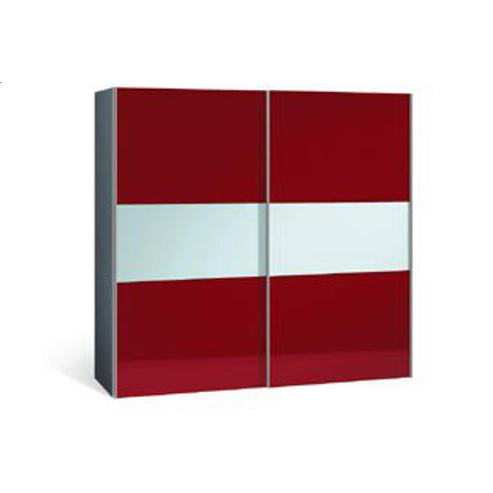 Dressings et armoires meubles et rangements dressing profil 2 portes coulis - Porte coulissante rouge ...