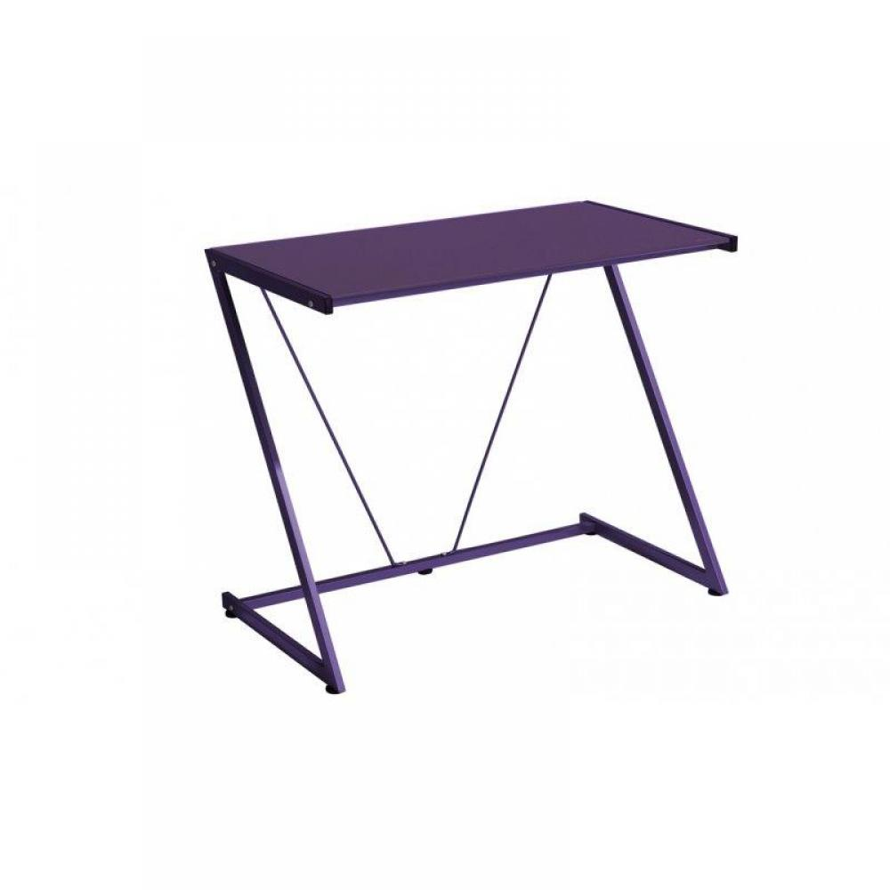 bureaux meubles et rangements bureau pulp avec plateau en verre violet inside75. Black Bedroom Furniture Sets. Home Design Ideas