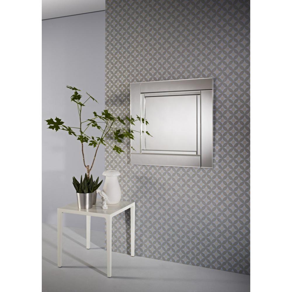 Miroirs meubles et rangements quadran miroir mural for Meuble mural en verre