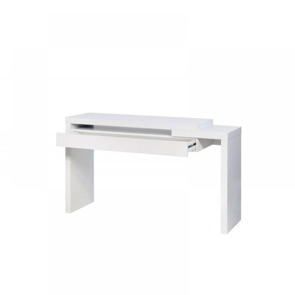 Table rabattable cuisine paris consoles meubles design - Table console extensible blanc laque design ...