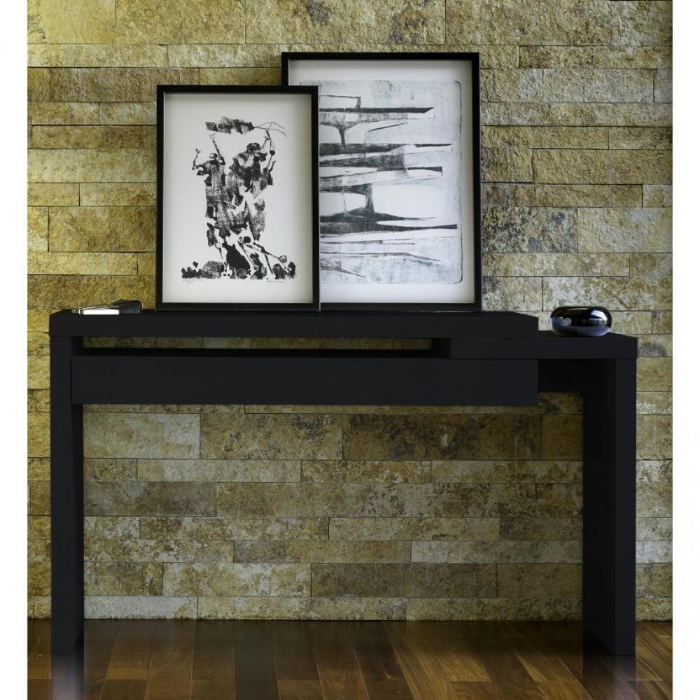 consoles meubles et rangements temahome reef meuble console laqu e noir design. Black Bedroom Furniture Sets. Home Design Ideas