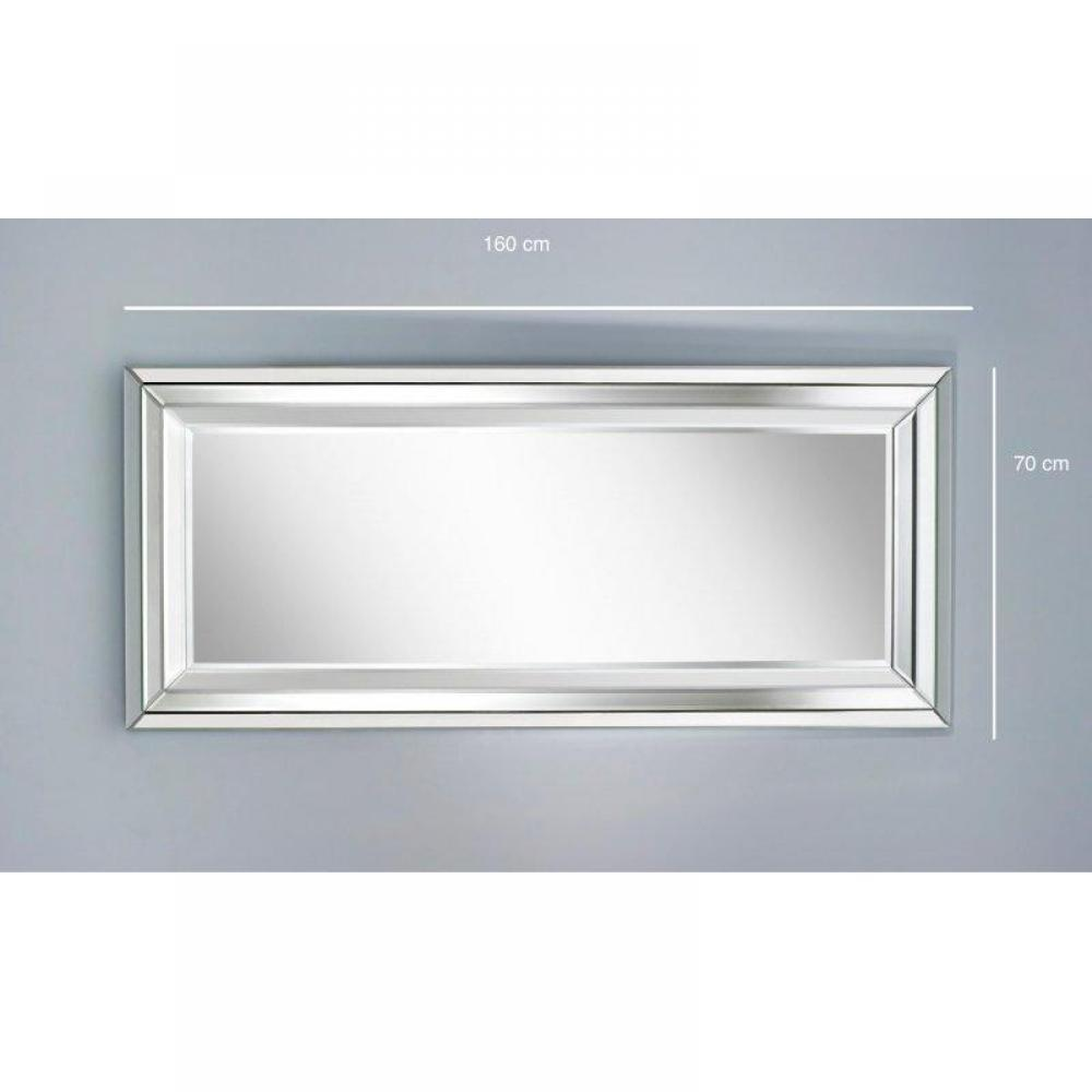 Miroirs d corations right miroir mural design en verre - Grand miroir mural sur mesure ...