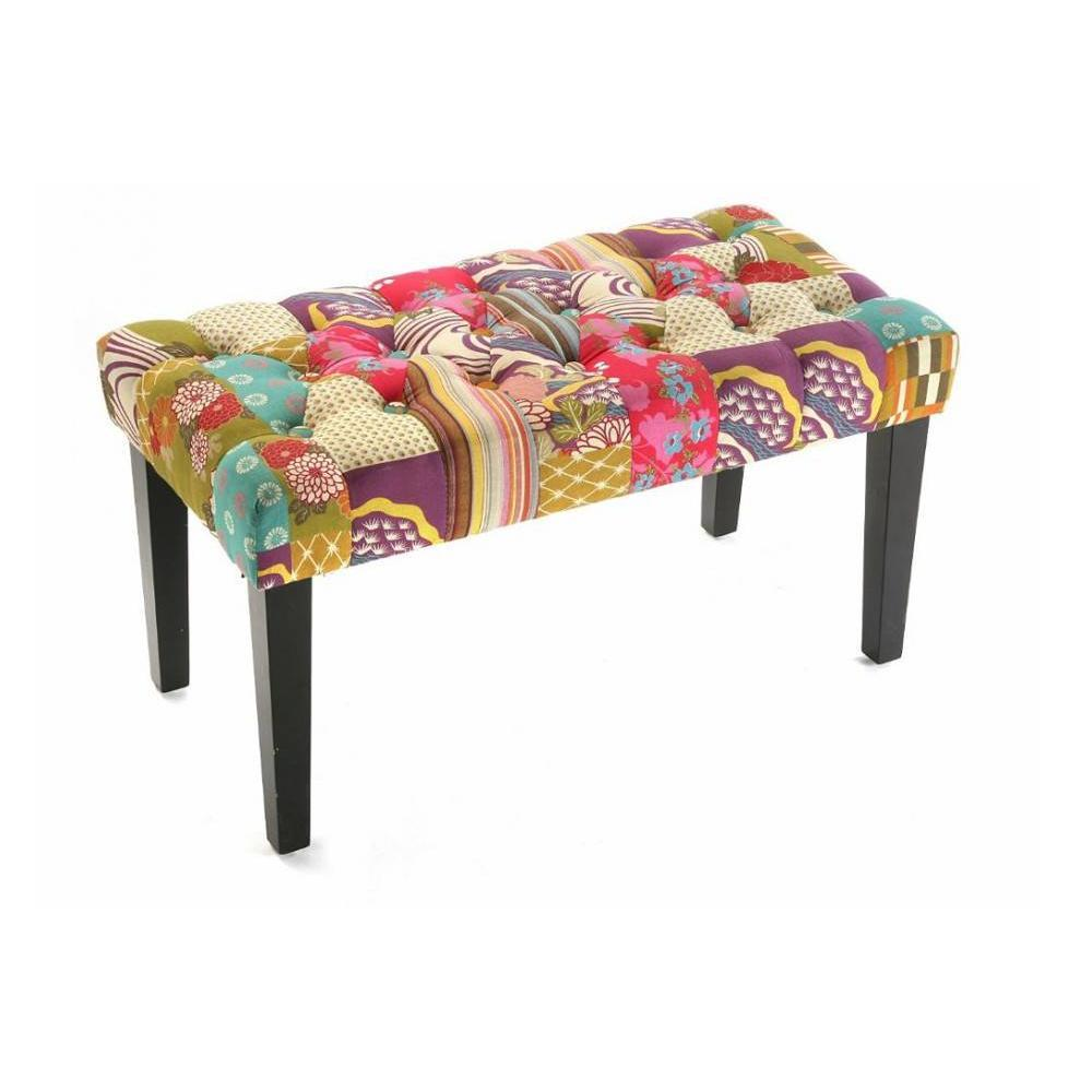 Bancs tables et chaises rio banc patchwork inside75 for Canape patchwork