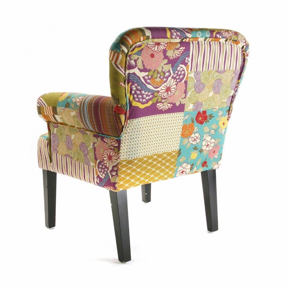fauteuils design canap s et convertibles rio fauteuil patchwork avec accoudoirs inside75. Black Bedroom Furniture Sets. Home Design Ideas