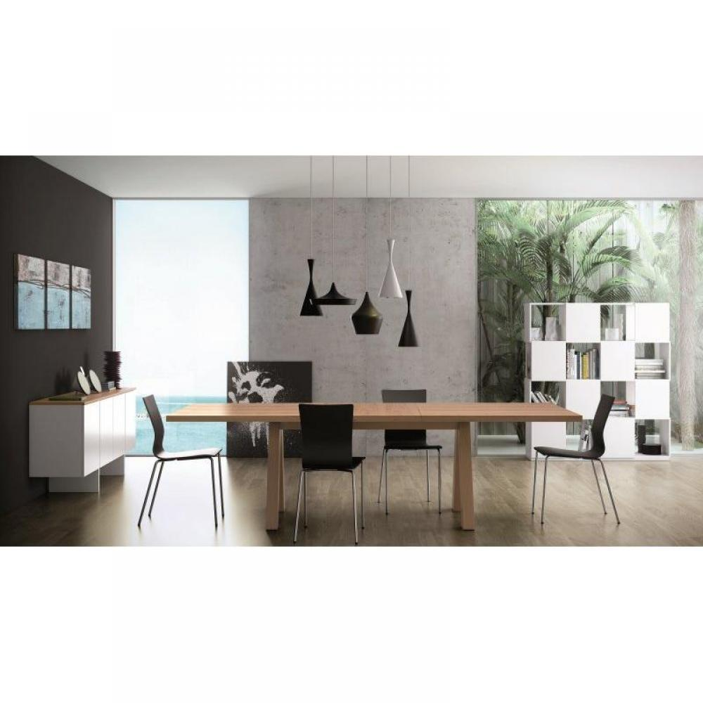 buffets meubles et rangements temahome edge buffet 4 portes blanc avec plateau noyer. Black Bedroom Furniture Sets. Home Design Ideas
