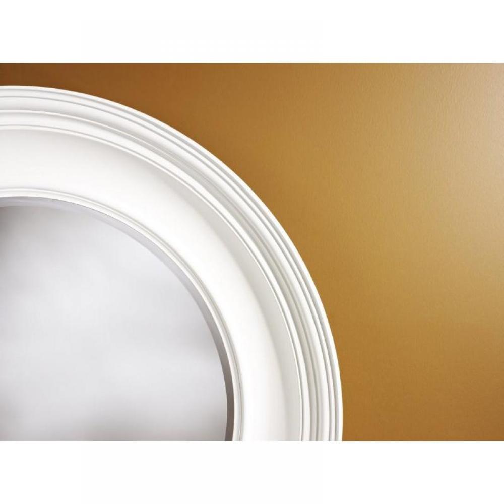 Rosie miroir mural design en verre couleur blanc place for Miroir blanc mural