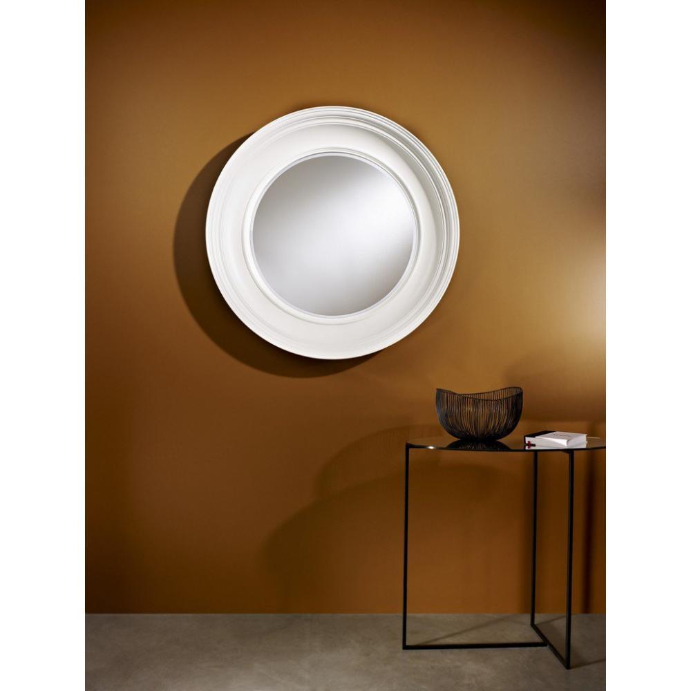 Miroirs meubles et rangements rosie miroir mural design for Miroir blanc mural