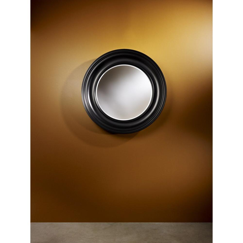 Rosie miroir mural design en verre couleur noire place for Miroir noir design