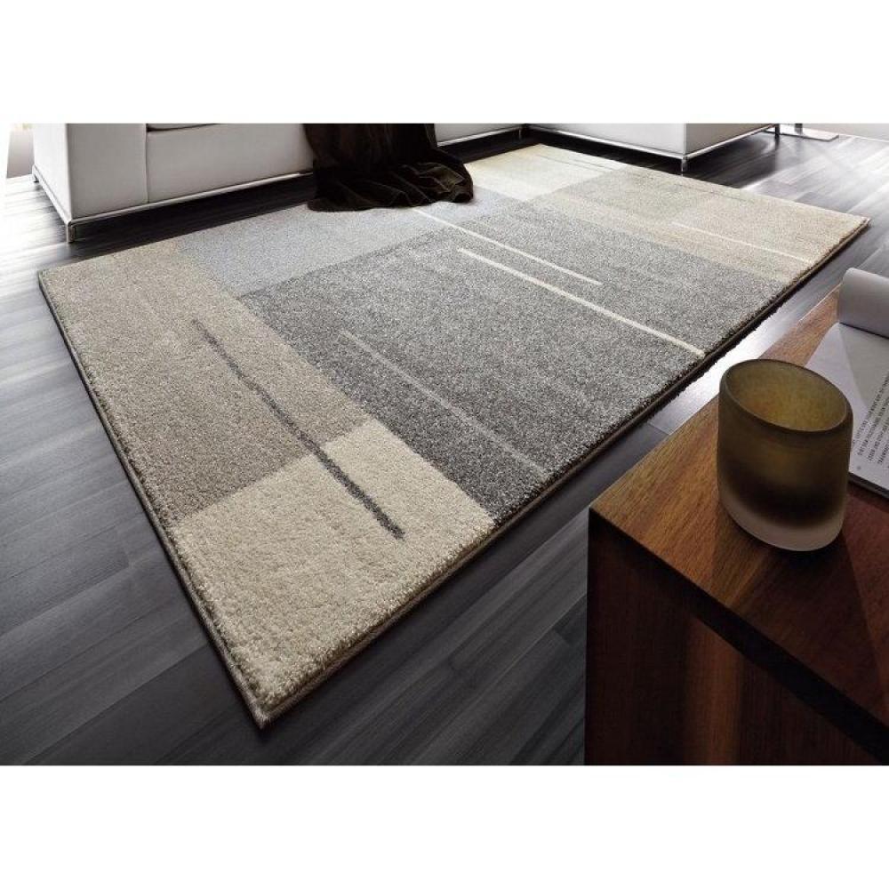 Tapis de sol meubles et rangements samoa design tapis patchwork gris taupe - Tapis salon gris design ...