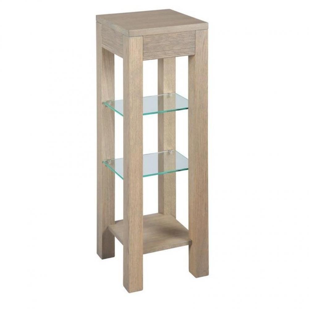 sellettes gueridons meubles et rangements sellette hans 2 tablettes en verre en ch ne massif. Black Bedroom Furniture Sets. Home Design Ideas