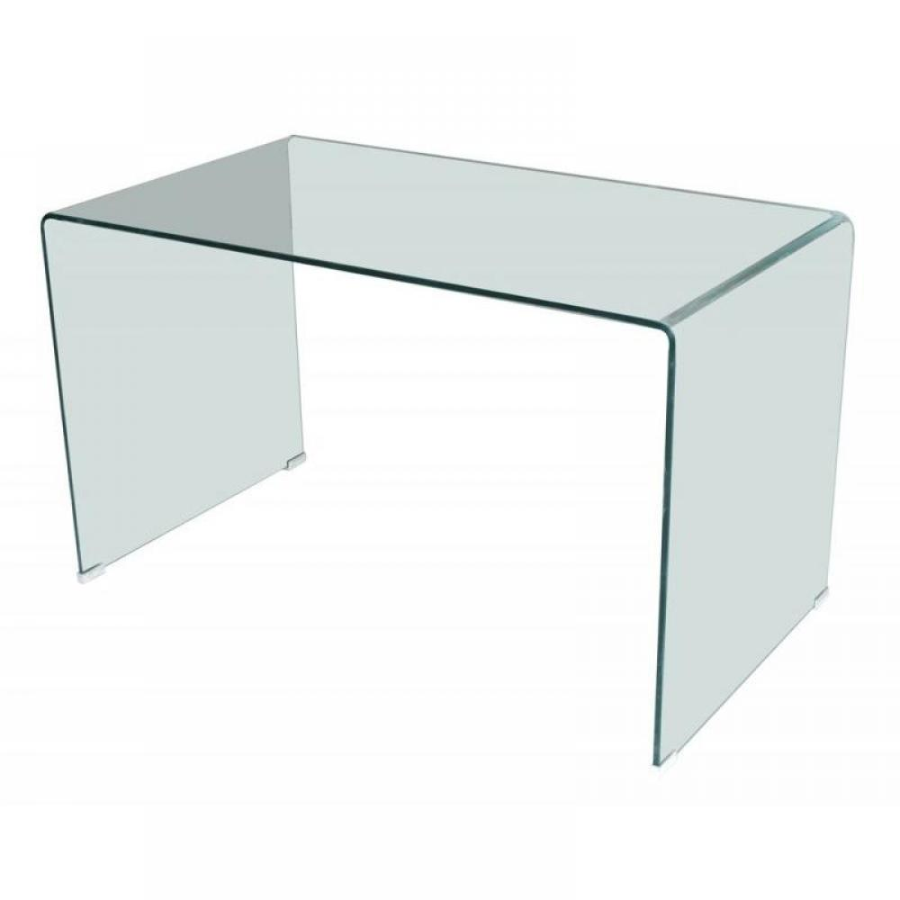 Cyber monday week side bureau en verre tremp transparent design inside75 - Console en verre trempe ...