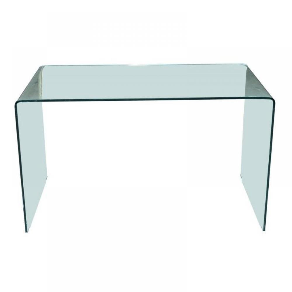 Bureaux chambre literie side bureau en verre tremp - Bureau en verre design ...