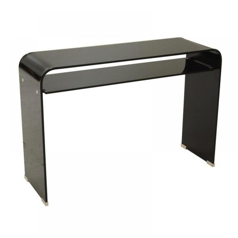 consoles tables et chaises side console verre noir design inside75. Black Bedroom Furniture Sets. Home Design Ideas