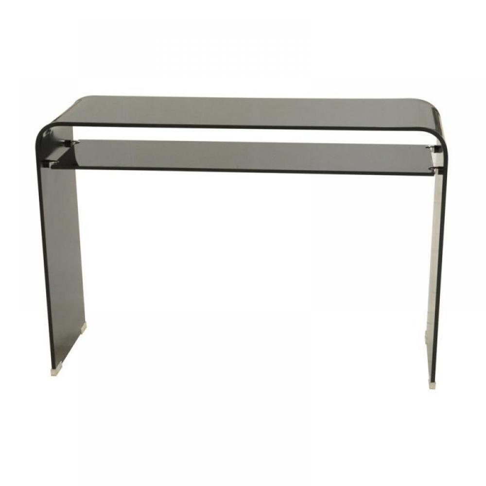 consoles meubles et rangements side console verre noir. Black Bedroom Furniture Sets. Home Design Ideas