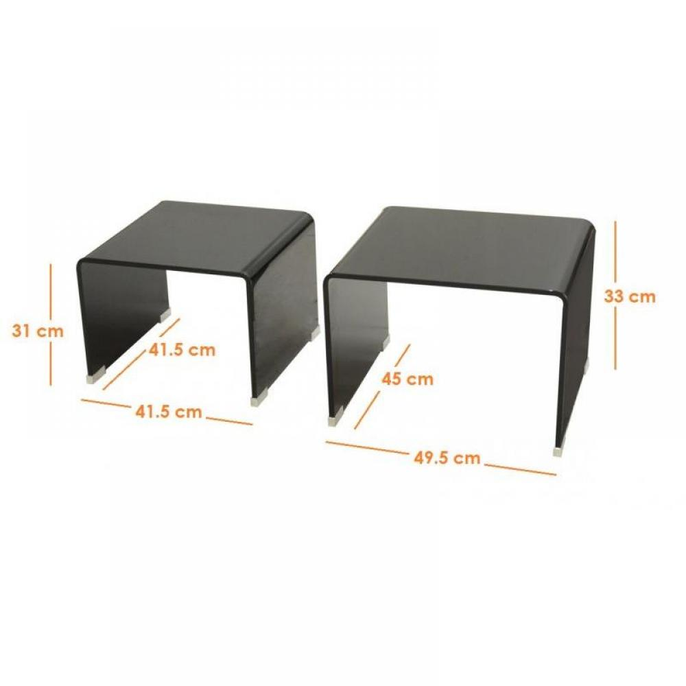 tables basses tables et chaises lot de 2 tables gigogne. Black Bedroom Furniture Sets. Home Design Ideas