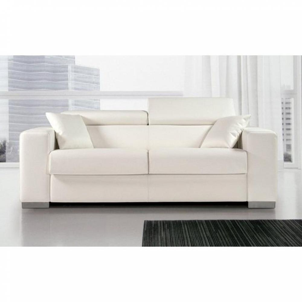- Canape cuir convertible 3 places ...